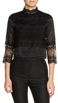 Maje Women's Lace & Embroidery Top