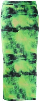 Versace Tie-Dye Print Pencil Skirt