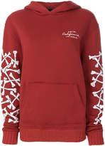 Amiri bone printed sleeve hoodie