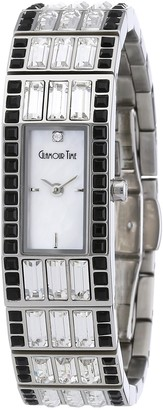 Glamour World Glamour Time Ladies Watch GT600ST3-2STbk-w with Mother of Pearl Dial and Silver Stainless Steel Bracelet