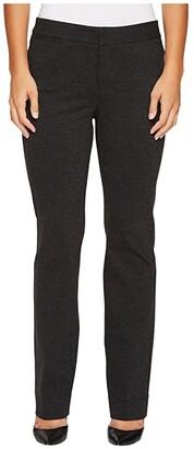 NYDJ Petite Petite Ponte Trouser Pants in Charcoal (Charcoal) Women's Jeans