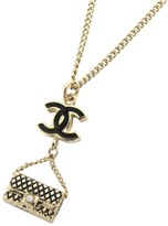 Chanel Gold Tone Metal Coco Matelasse Bag Necklace