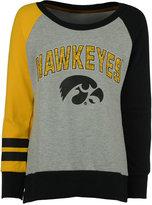 adidas Girls' Iowa Hawkeyes Crew Fleece Sweatshirt