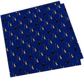 Tommy Hilfiger Men's Penguin Fishing Print Silk Pocket Square