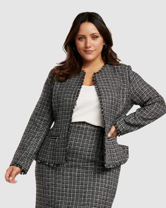 Forever New Curve Amy Boucle Edge to Edge Curve Jacket