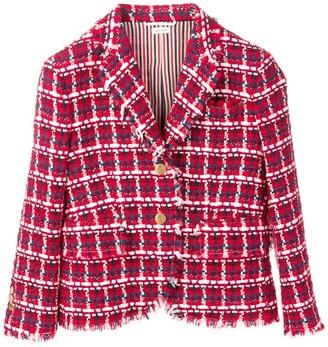 Thom Browne Gun Club Check Tweed Sport Coat