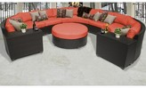 Tegan 8 Piece Sectional Seating Group with Cushions Sol 72 Outdoor Cushion Color: Tangerine