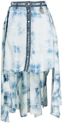 Diesel Susan tie-dye asymmetric skirt