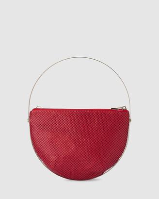Olga Berg Rondella Flat Mesh Handle Bag