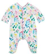 Catimini Baby's Turquoise Accent Floral Footie