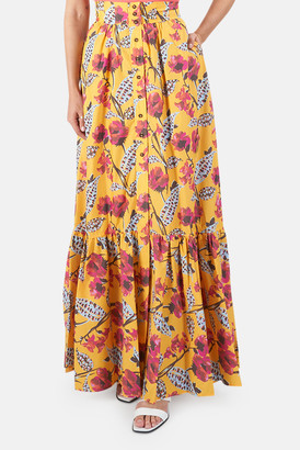 A.L.C. Yellow Multi Lillie Skirt