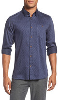 Ted Baker Maitett Trim Fit Dot Dress Shirt