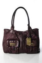 Lauren Ralph Lauren Red Leather Front Pocket Shoulder Handbag