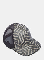 Gucci Men's Geometric Print 6 Panel Baseball Cap In Beige And Black