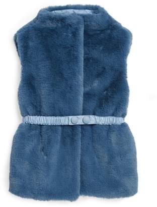Il Gufo Belted Faux Fur Gilet