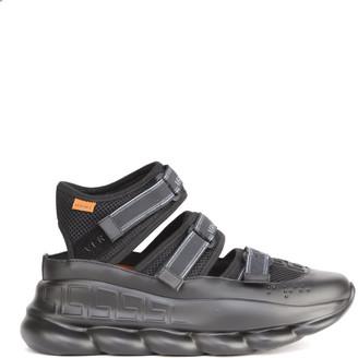 Versace Chain Reaction Mesh Sandals