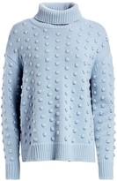 Lela Rose Dotted Knit Wool & Cashmere Turtleneck