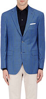 Piattelli MEN'S WINDOWPANE CHECK WOOL TWO-BUTTON SPORTCOAT