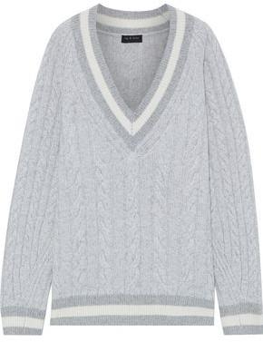 Rag & Bone Theon Striped Cable-knit Merino Wool Sweater