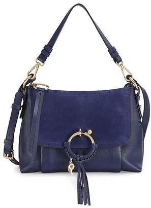 See by Chloe Small Joan Suede & Leather Hobo Bag
