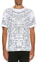 Marcelo Burlon County of Milan Salomon Allover-Print T-Shirt, White/Black