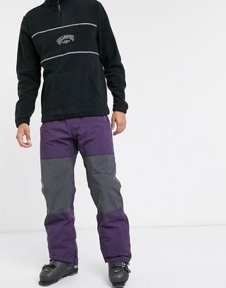 Billabong Tuck Knee ski pants in purple