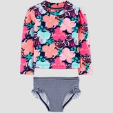 Carter's Just One You Made By Toddler Girls' Floral Swim Rash Guard Set - Just One You® made by
