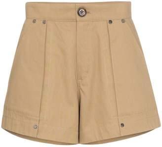 Chloé high-waisted flared shorts