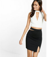Express waist cut-out mini skirt
