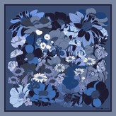 Emily Carter The English Garden Pocket Square Royal Blue