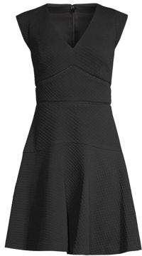 Rebecca Taylor Taylor Jacquard Fit-And-Flare Dress
