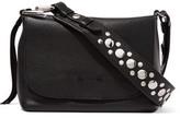 Elizabeth and James Finley Studded Textured-Leather Shoulder Bag