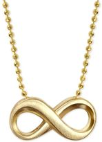 Alex Woo Infinity Sign Pendant Necklace in 14k Gold