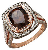 Lord & Taylor Smokey Quartz, Diamond and 14K Rose Gold Ring