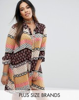 Alice & You Printed Swing Shirt Dress
