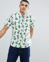 ONLY & SONS Cactus Print Short Sleeve Shirt