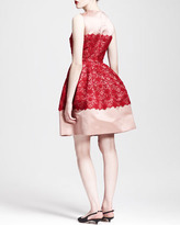 Dolce & Gabbana Sleeveless Full-Skirt Lace Combo Dress