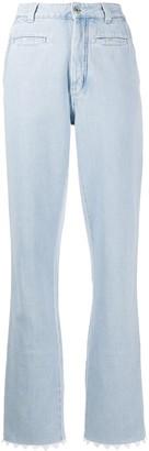 Loewe Scalloped Hem Straight Leg Jeans