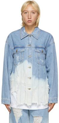 Sjyp Blue Washed Denim Jacket