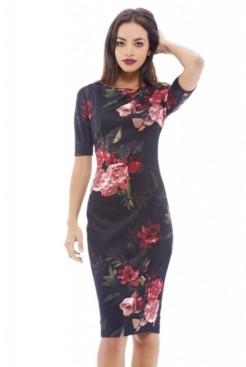 AX Paris Short Sleeved Floral Midi Dress