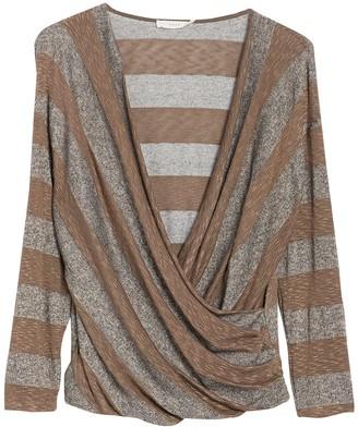 Lush Hacci Surplice Neck Sweater