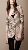 Burberry Check Wool Cashmere Cardigan