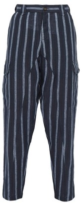 Denis Colomb Voyageur Striped Linen Trousers - Navy Multi