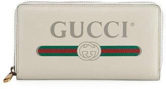 Gucci Web Logo Zip-Around Wallet