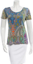Etro Ruche-Accented Printed T-Shirt