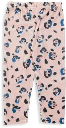 Noë & Zoë Berlin Baby Girl's Leopard Print Velvet Leggings