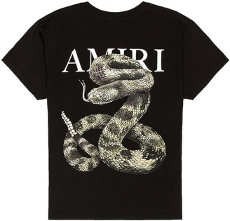 Amiri Snake Tee in Black | FWRD