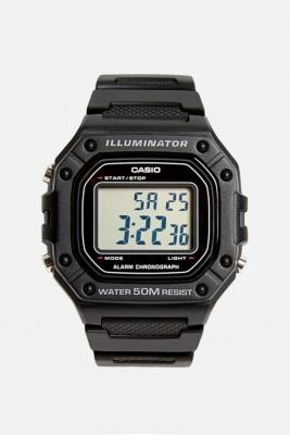 Casio F108WH Illuminator Black Watch - black at Urban Outfitters