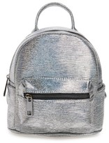 Street Level Faux Leather Backpack - Metallic