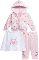 Nannette 3-Pc. Hoodie, Top & Leggings Set, Baby Girls (0-24 months)
